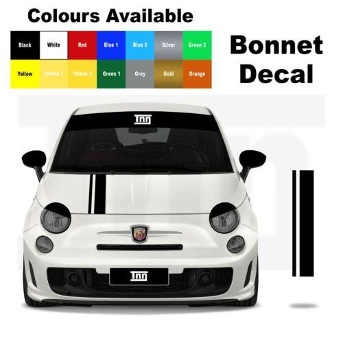 Abarth Fiat 500 595 Bonnet Stripe Punto Decal Graphic Sticker Livery Badge
