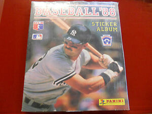 Baseball-039-88-Sticker-Album-Panini-Sealed-with-all-stickers-New-Rare-MLB