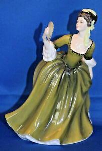 Vintage Porcelain Royal Doulton HN 2378 Simone 20cm Tall Green Dress Figurine