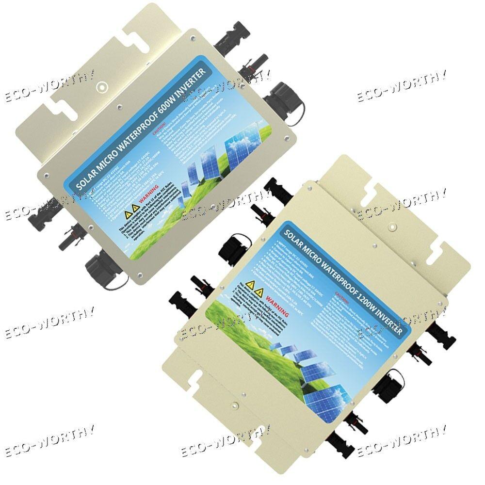 Grid Tie 600W 1200W 220V Wechselrichter Waterproof Inverter suitable solar panel