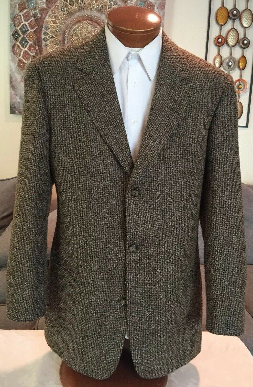 642570392 Boss Mens Brown 3 Button Wool Blazer 42 L MINT Sz Hugo npiysp9153 ...