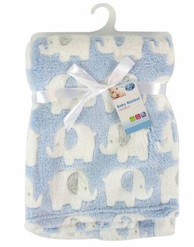 Adorable MANTA Elefante Azul Tema Niños Bebé Confort cintas Polar Suave