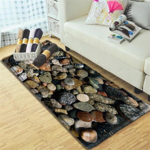 3D Stone Kitchen Bathroom Shower Floor Non-Slip Bath Mat Rug Carpet Mermaid