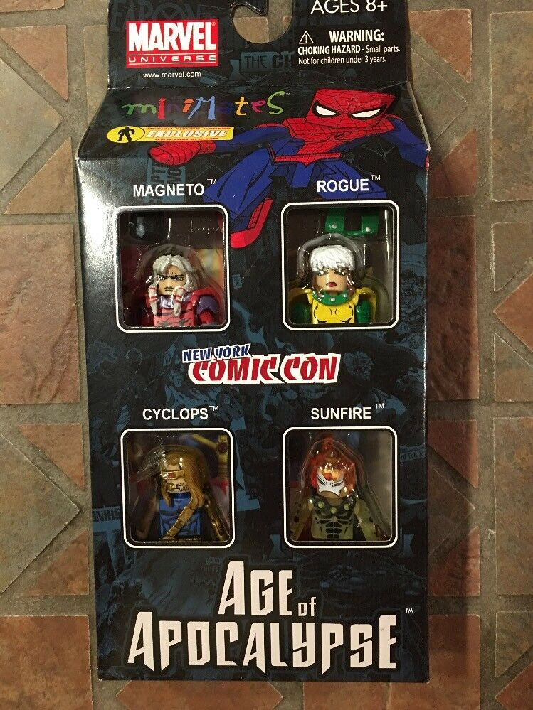 Marvel miniatures aoa age of apocalypse  sunfire magneto rogue boxset cyclops px  promotions discount