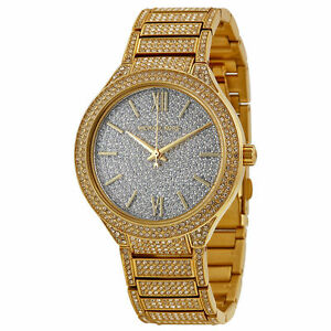 936966940b35 Michael Kors MK3360 Kerry Gold Glitz Swarovski Pave Crystal 38mm Watch