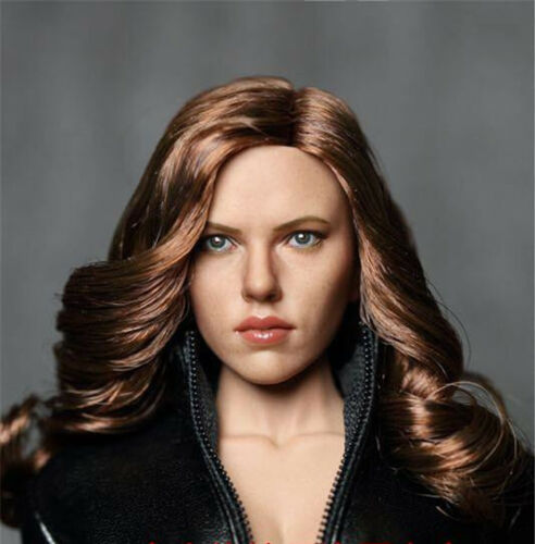 Zctoys 1//6th Scarlett Johansson Head Sculpt Carved Brown Hair Female Figure Toys
