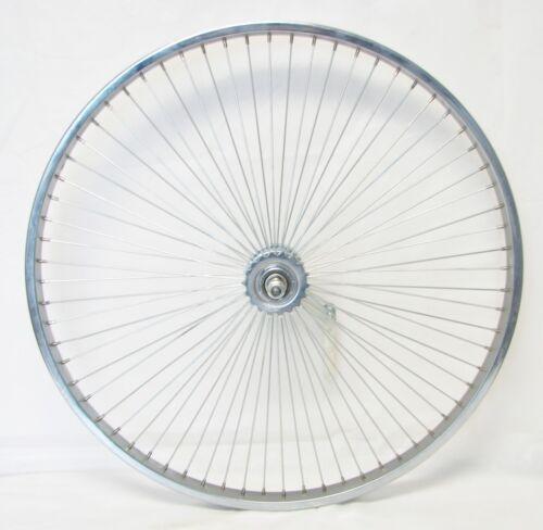 "Silver Steel  26/"" Bicycle Front Wheel 68 Spokes Cruiser Lowrider Bikes"