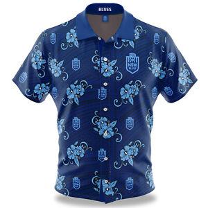 NSW Blues SOO 2021 Tribal Hawaiian Shirt Button Up Polo Shirt Sizes S-5XL!