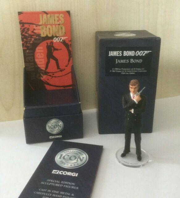 Corgi Icon F04041 James Bond 007 Roger Moore Boxed Fine Metal Figure 1998