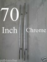 70 Entry Door Pull Handle Ladder Polished Chrome Glass Entrance