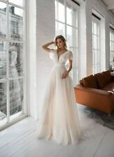 Sleevless bohemian vintage rustic wedding dress Lace simple modest bridal gown