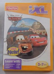 Fisher-Price-iXL-Learning-System-Disney-Pixar-CARS-2-Game-BRAND-NEW