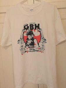 1ee914368 Reprint Vintage Old Punk Rock Concert T shirt GBH Dickies Tshirt