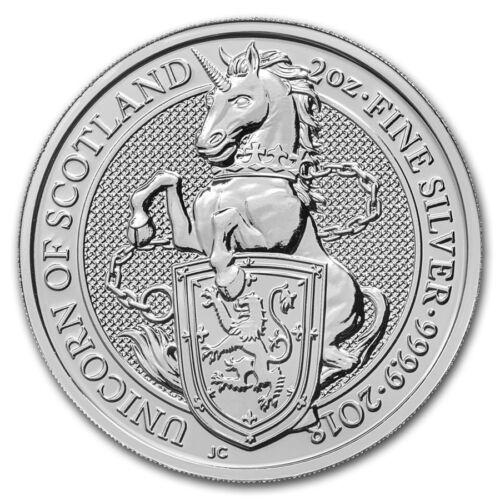 2018 Queen/'s Beast Collection Unicorn 2 oz .9999 Silver Round BU Bullion Coin