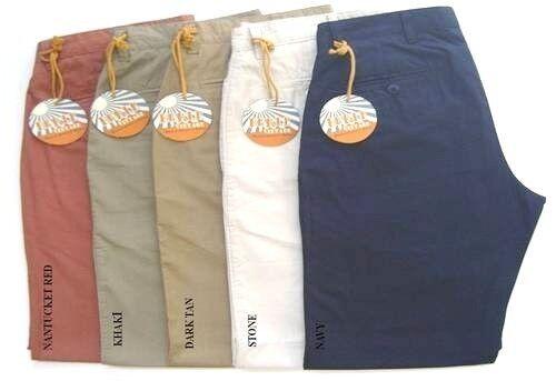 * Nuovo Berle - Uomo - Pantaloni 100% - Cotone Popeline/seersucker - 32 34 36 38 Styling Aggiornato