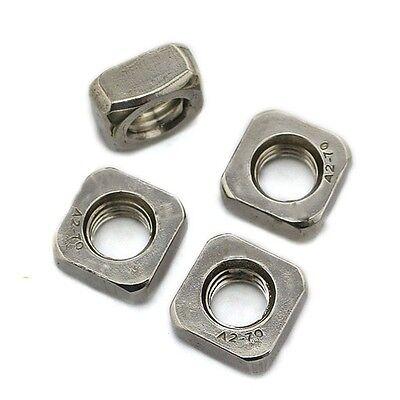 20PCS/100PCS 304 Stainless Steel Square Nuts M3 M4 M5 M6 M8
