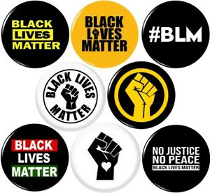 BLACK-LIVES-MATTER-2-8-NEW-1-Inch-25mm-Pinback-Buttons-Badges-Pins-BLM