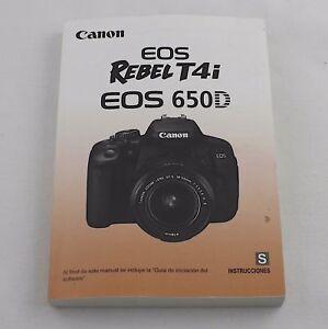 Canon eos rebel t4i eos 650d instruction manual: canon: amazon. Com.