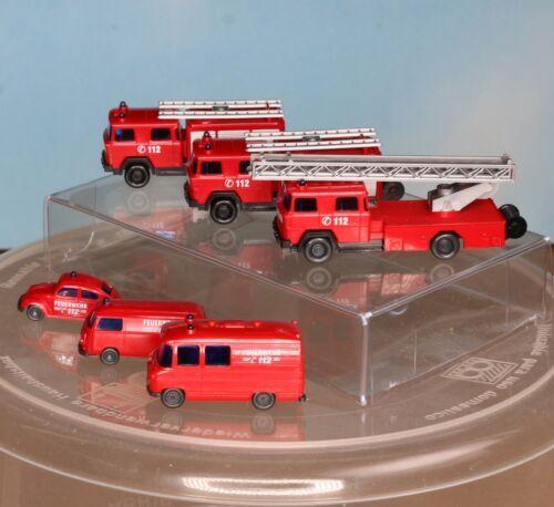 - Spur N - 093449 Feuerwehr-Auto-Paket der 70er Jahre 096203 Wiking 096104