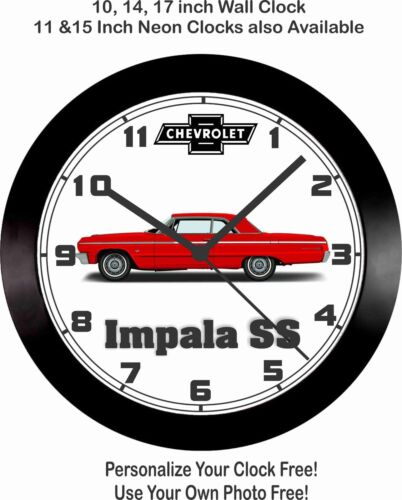 Camaro Corvette 1964 CHEVROLET IMPALA SS WALL CLOCK-FREE USA SHIP! Ford