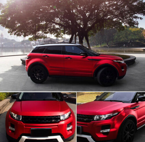 Red Premium Satin Matte Chrome Metallic Vinyl Film Wrap Sticker Airr Bubble Free