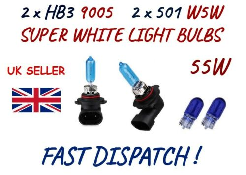 FITS MITSUBISHI OUTLANDER 2007 2 x HB3 9005 501 HALOGEN SUPER WHITE LIGHT BULBS
