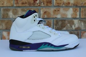 123dc57c96da5f Men s Nike Air Jordan 5 V Retro Grape 2013 White Purple Size 10.5 ...
