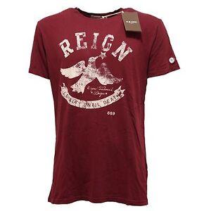 reputable site b8518 011c6 Details about 2234Q t-shirt REIGN bordeaux maglia manica corta uomo t-shirt  men