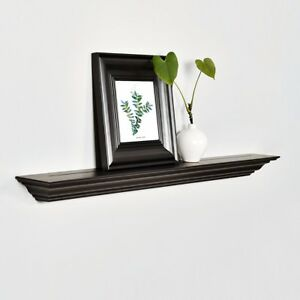 Details About 36 Crown Molding Floating Wall Shelf Traditional Decor Display Welland 5 25 D