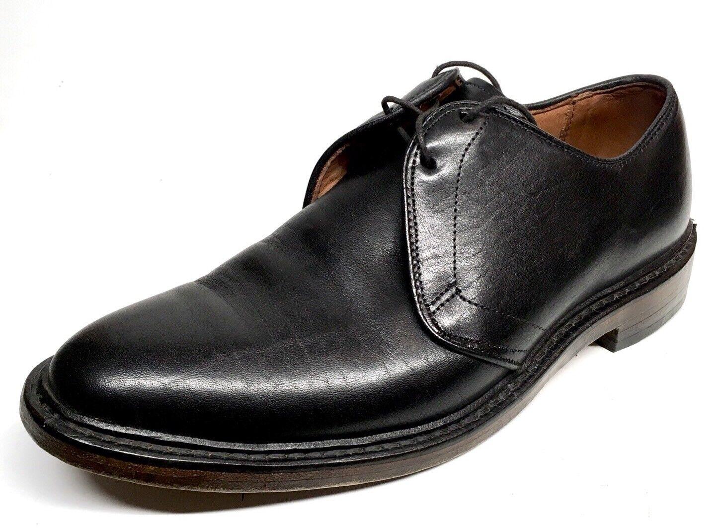 Sz. 7.5 ALLEN EDMONDS Jodox Negro Cuero D Derby Zapatos Para Hombre Hecho en EE. UU.