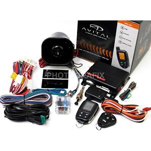 Avital-5305L-2-Way-Remote-Auto-Car-Start-Starter-amp-Alarm-Security-Replaced-5303L