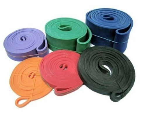 Resistance Squatting Cord 7 PACK POWER BAND Weightlifting Bands Aerobics Therapy
