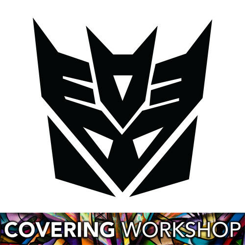 Sticker Transformers Decepticon 15cm