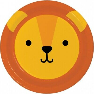Animal Faces Panda 9 Inch Paper Plates 8 Pack Safari Jungle Party Supplies