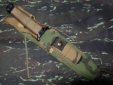 1985 Gerber Guardian II Black Combat Survival Knife original Camouflage Sheath