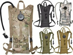 Image is loading Tactical-Hydration-Pack-3-Liter-Bladder-Military-MOLLE- 0bfa7b26f5