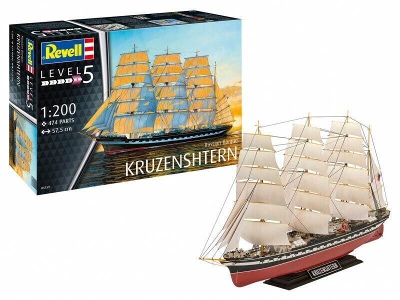 Revell 1 200 vascello russo Kruzenshtern Modello in kit di Montaggio