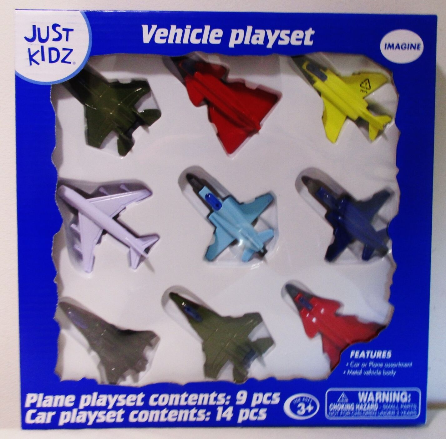 NEW Diecast Metal 9 Piece Toy Fighter Jets Planes Playset Set Lot F-4 F-15