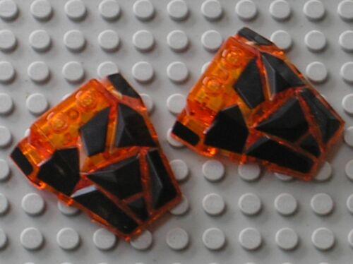 Set 70325 70313 70321 70314.... 2 x LEGO Nexo Knights TrOrange Roof Rock 24374