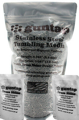 "15 Pounds Stainless Steel Tumbling Media Pins 15lb .047"" x .255"" Made in USA"