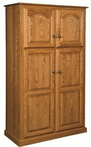 Details About Amish Country Traditional Kitchen Pantry Storage Cupboard Cabinet Roll Shelf Oak