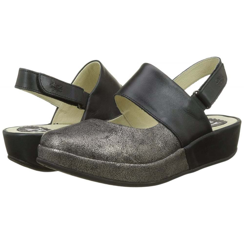 women Fly London pour baro725fly CUIR SANDALES shoes Graphite Graphite Graphite black - a6215c