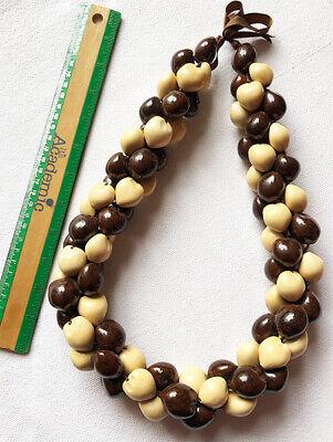 Hawaiian Kukui Nuts Wedding//Graduation//Sports Luau Necklaces Leis AND Bracelets