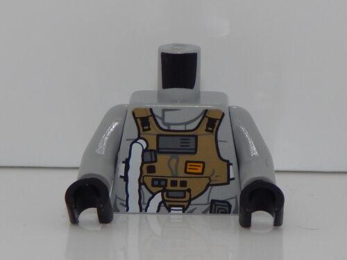 Lego Minifigure Torso Star Wars Gray Squadron Pilot T85