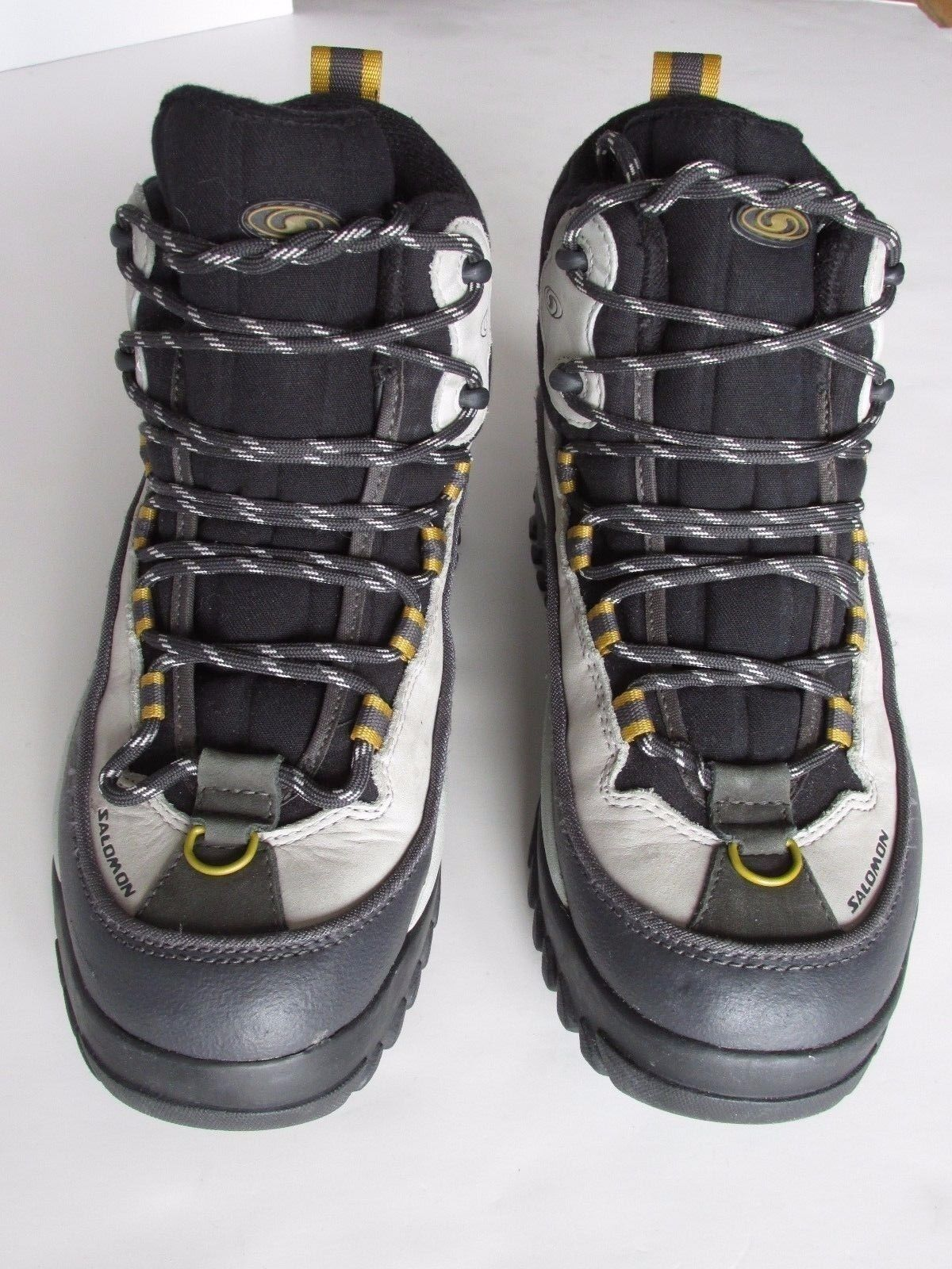 Salomon Clima-Dry Insulated  Black Gray Leather Hiking Trail Boot Women's 7M