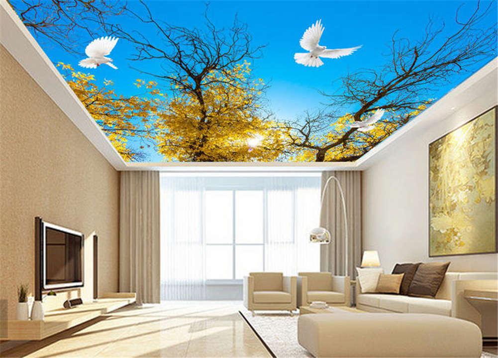 Tender Chronic Cloud 3D Ceiling Mural Full Wall Photo Wallpaper Print Home Decor