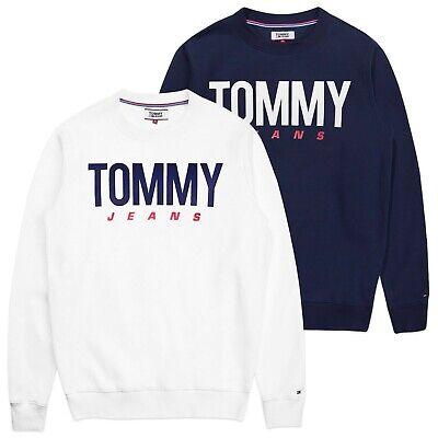 Tommy Hilfiger Felpa-TOMMY JEANS essenziali Logo Crew Felpa-Blu Scuro