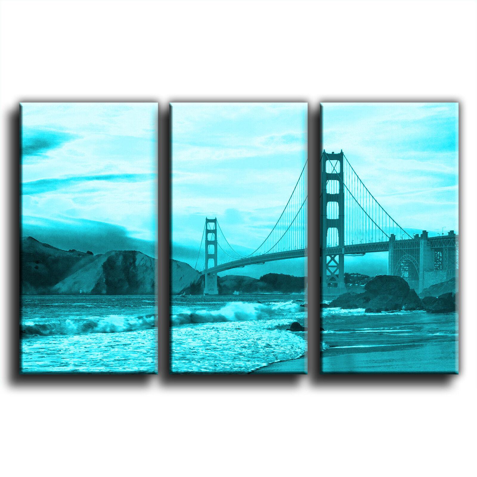 San francisco Or en gate bridge treble toile murale murale toile art photo print 4 997994