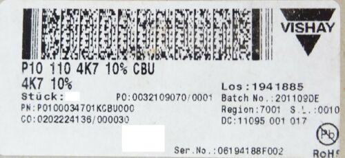 VISHAY P10 Drahtpotentiometer Drahtdrehwiderstand 16W 4,7 KOhm WM110 P101104K7