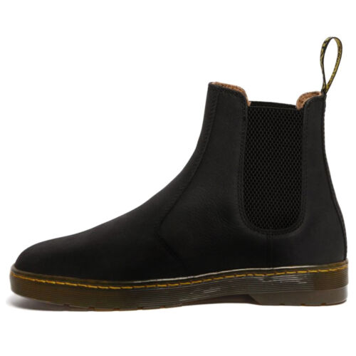 Martens Herren Stiefel Harrema Casual Pull-On Chelsea Ankle Leather Textile Dr